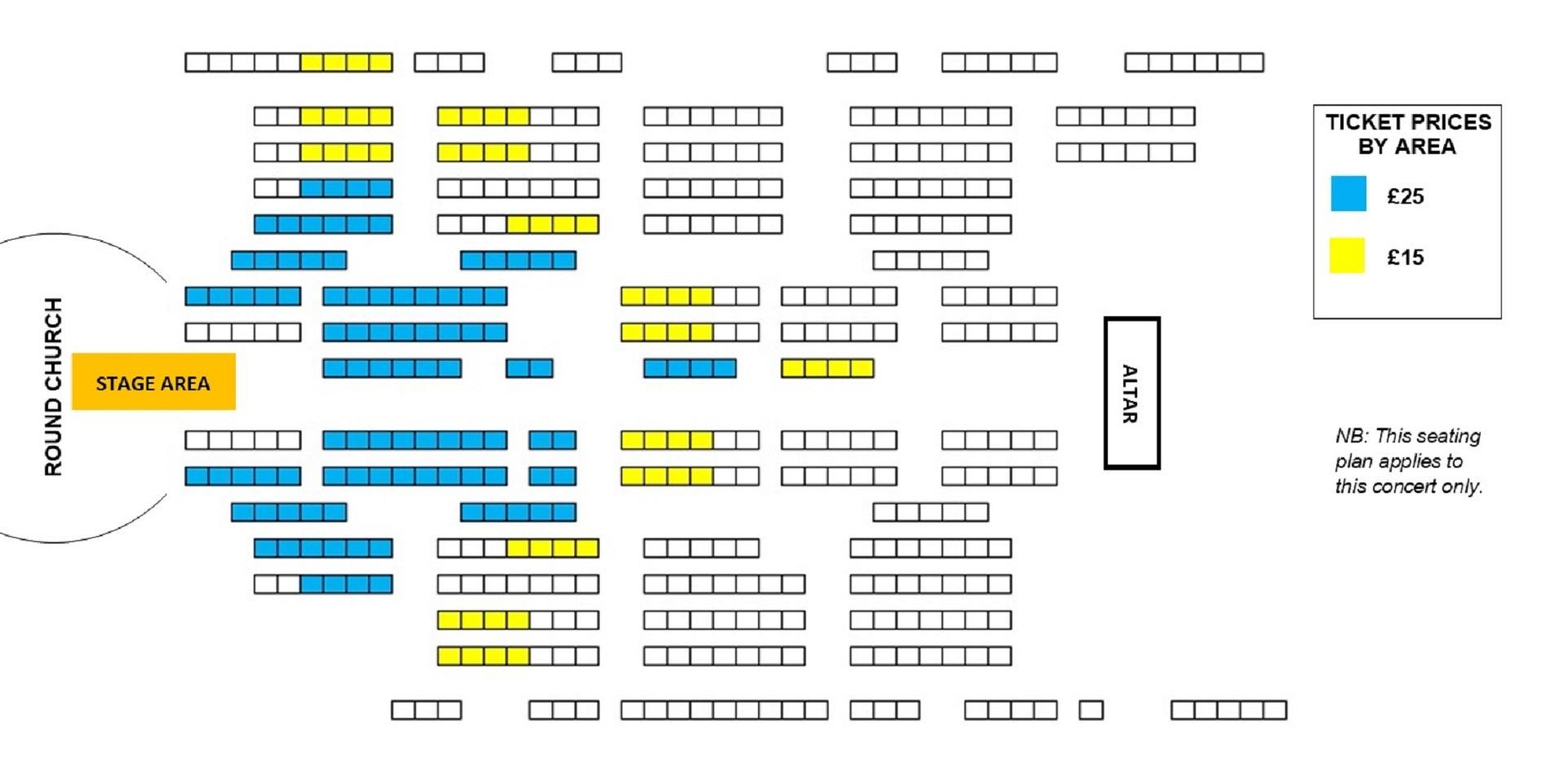 Seating plan Jeffrey Siegel Keyboard Conversations: Music of Joy and Peace