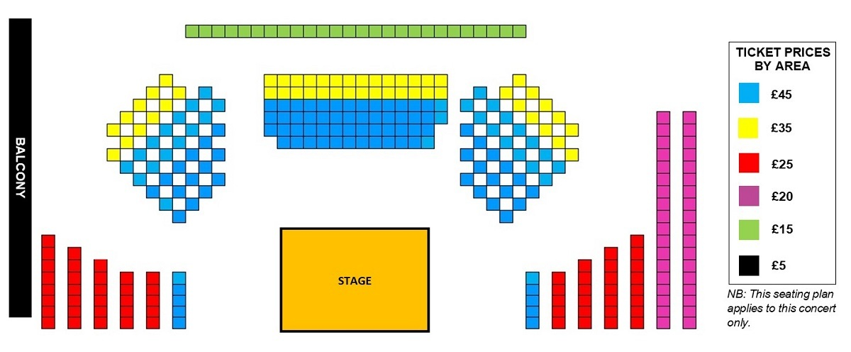 Seating plan Temple Song: Alice Coote and Stuart Jackson