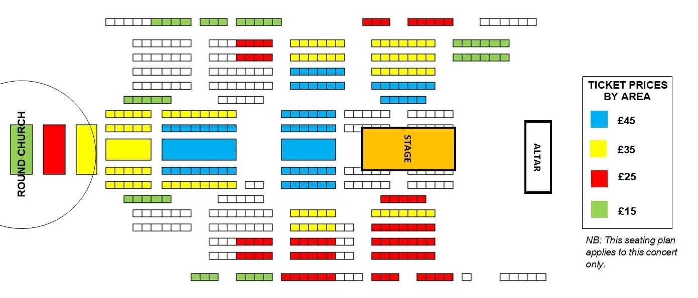 Seating plan Messiah