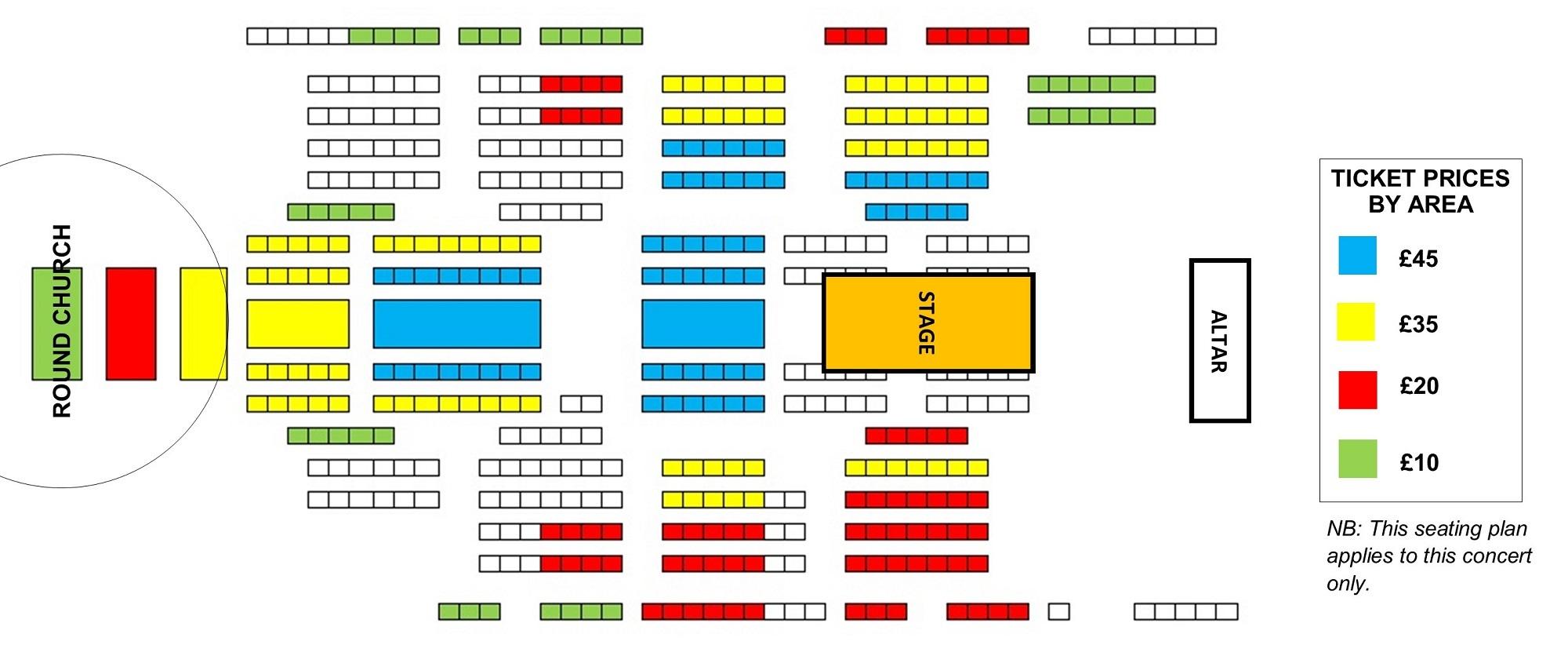 Seating plan The Sixteen