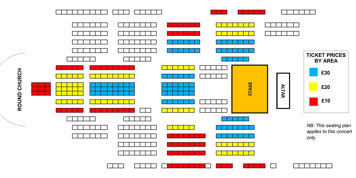 Seating plan The Temple Singers and Genesis Sixteen