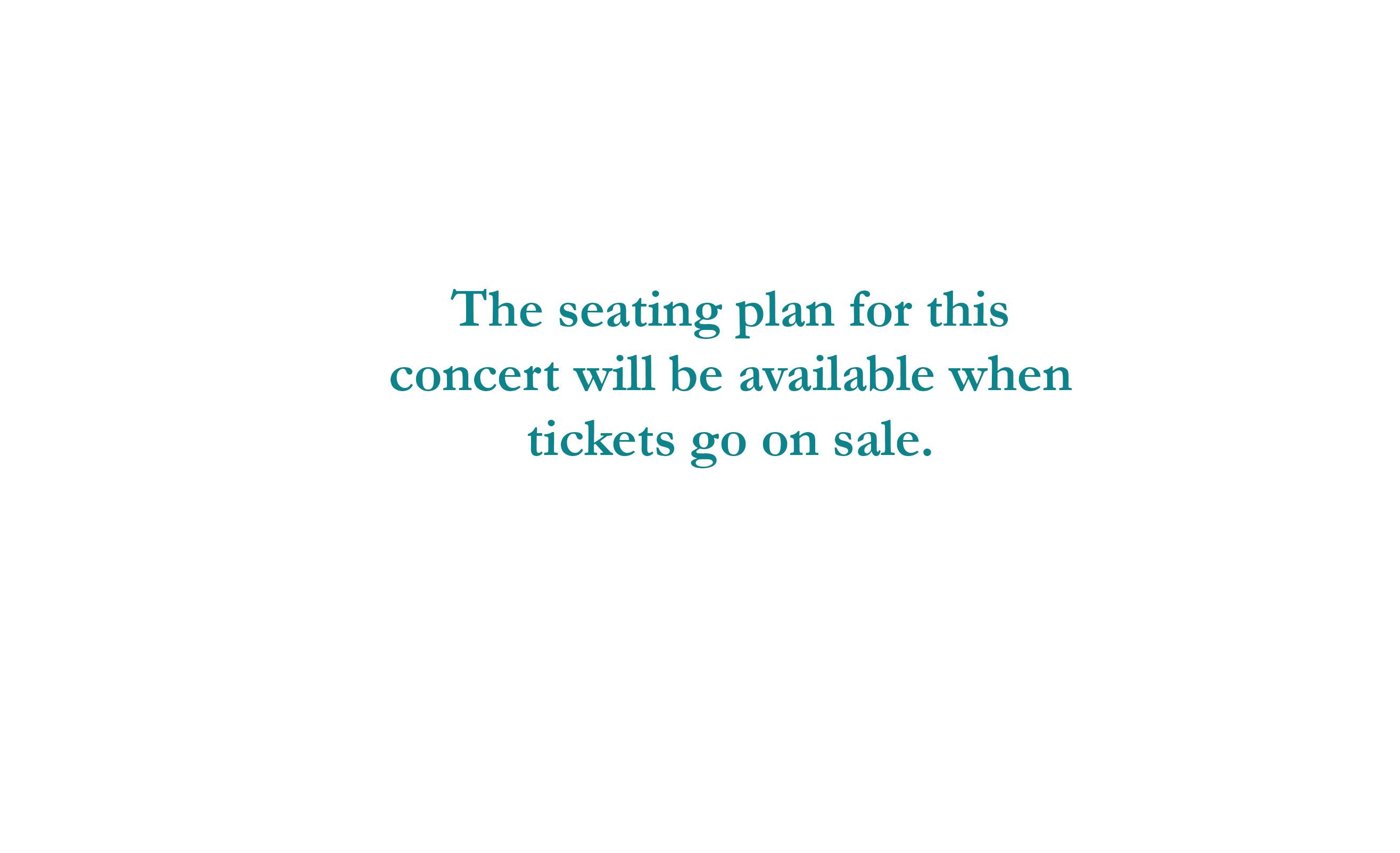 Seating plan John Ashton Thomas Jazz Concert