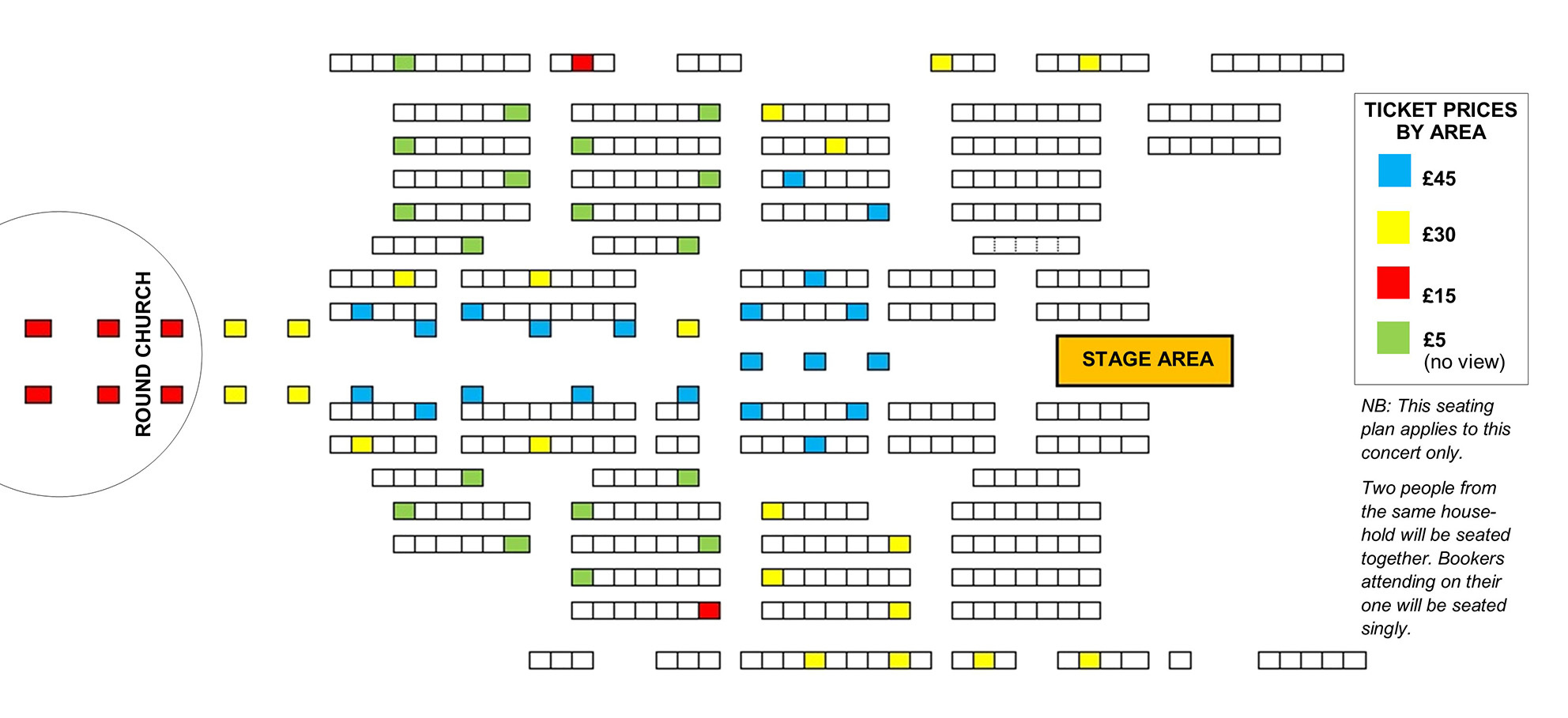 Seating plan Handel Messiah: SOLD OUT