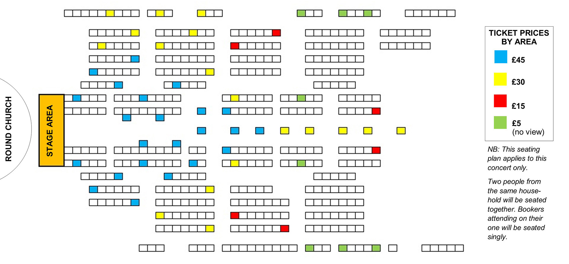 Seating plan Temple Song: Eva-Maria Westbroek - A Journey from Europe to the Americas - POSTPONED