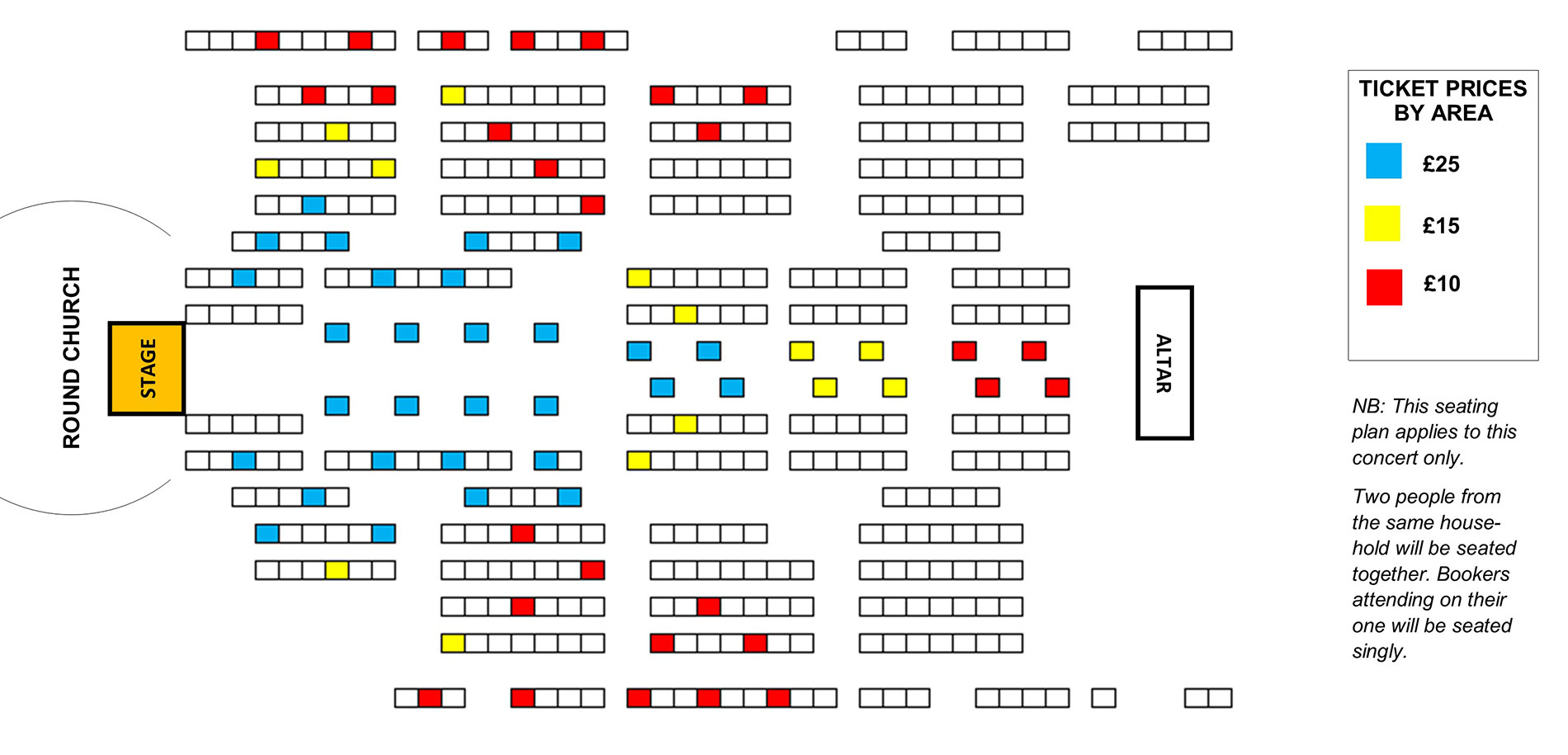 Seating plan Holst Singers