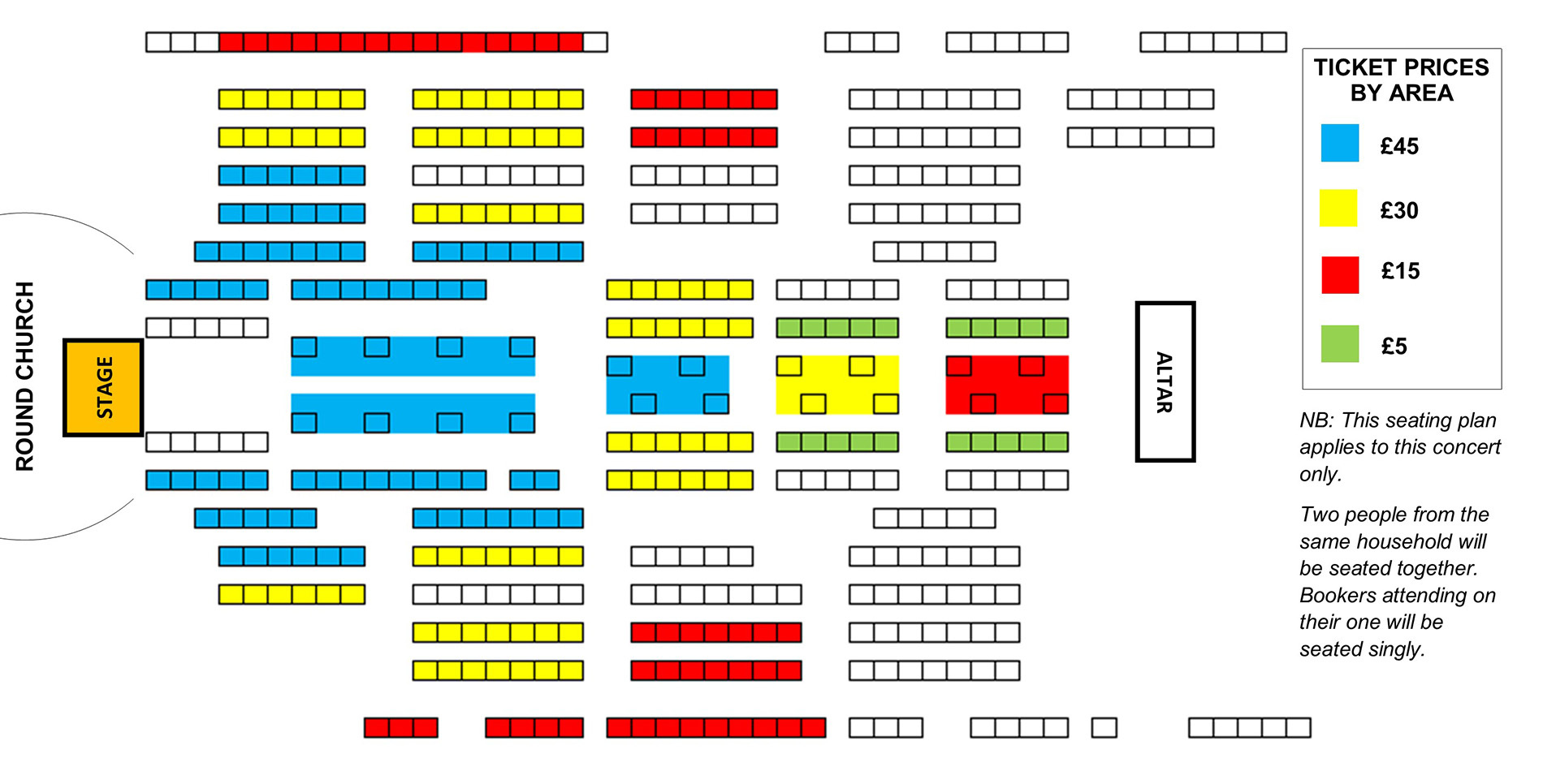 Seating plan Temple Song: Strauss Four Last Songs