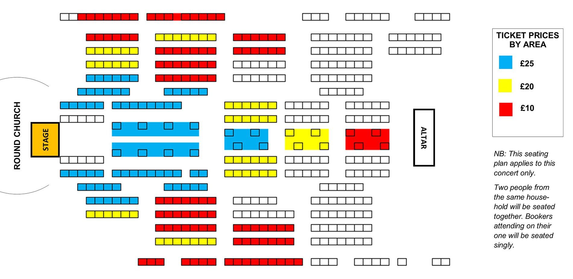 Seating plan Temple Singers: A Venetian Choral Journey