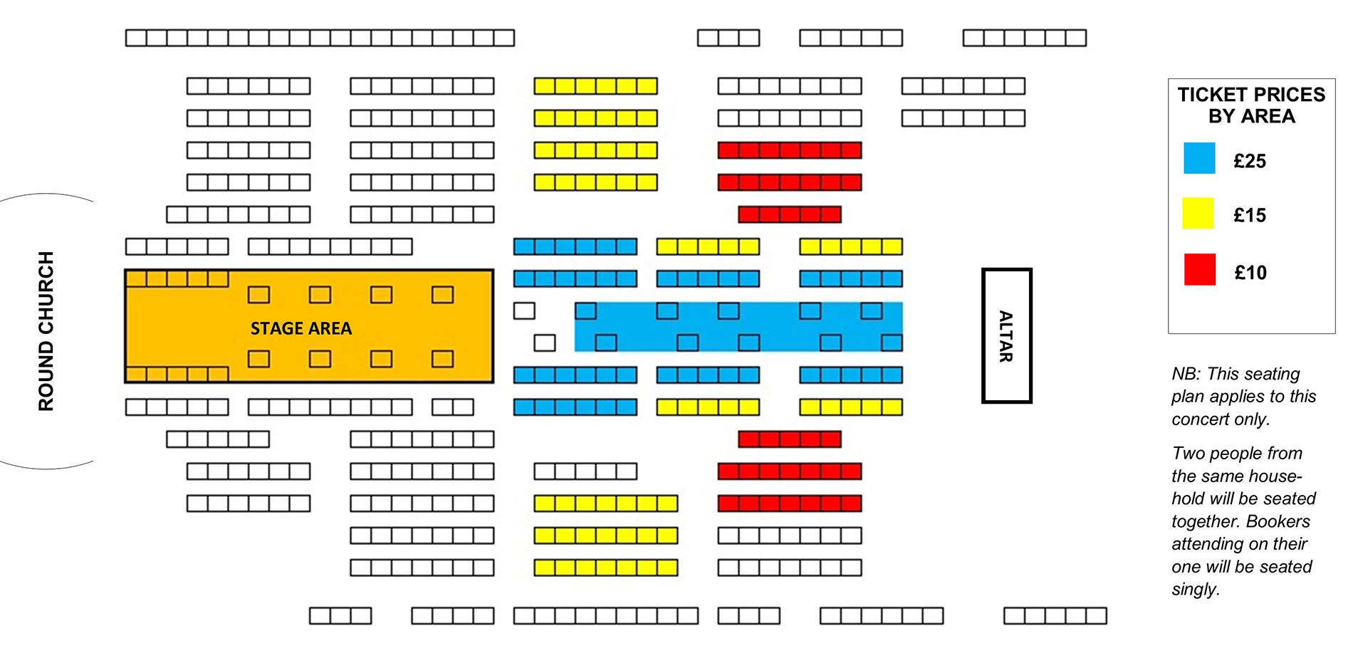 Seating plan The Choristers of the Temple Church Choir